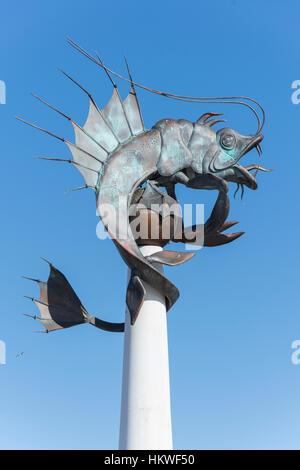 """Der """"Barbican Garnele"""" Skulptur, Barbican, Plymouth, Devon, England, Vereinigtes Königreich - Stockfoto"""