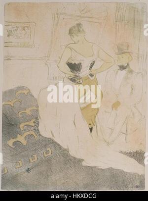Brooklyn Museum - Femme En Korsett von Elles - Henri de Toulouse-Lautrec - Stockfoto