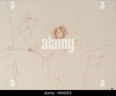 Brooklyn Museum - Femme Au Plateau von Elles - Henri de Toulouse-Lautrec - Stockfoto