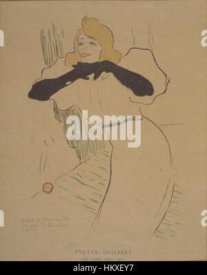 Brooklyn Museum - Yvette Guilbert aus La Rire - Henri de Toulouse-Lautrec - Stockfoto