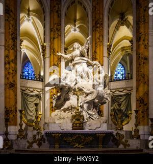 Die Himmelfahrt der Jungfrau von Charles-Antoine Bridan in der Kathedrale von Chartres auch bekannt als die Kathedrale - Stockfoto