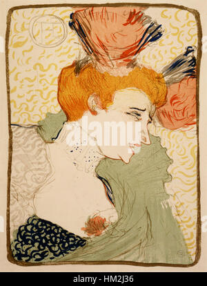 Lautrec Mademoiselle Marcelle Lender (Profil) 1895 - Stockfoto