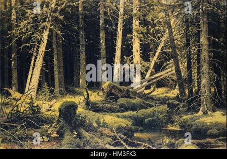 Ivan Shishkin - Wind-gefallenen Bäume - Stockfoto
