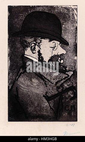 Henri de Toulouse-Lautrec von Charles Maurin (1856-1914) - Stockfoto