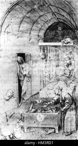 Hieronymus Bosch - Tod und der Geizhals - WGA02625 - Stockfoto