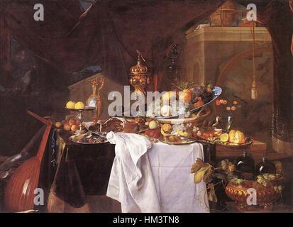 Jan Davidsz. de Heem - eine Tabelle mit den Desserts - WGA11289 - Stockfoto