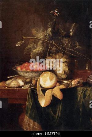 Jan Davidsz. de Heem - Stillleben mit eine geschälte Zitrone - WGA11270 - Stockfoto