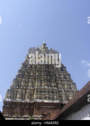 Kuthiramalika-Palast. Trivandrum, Kerala, Indien ist ein schöne zweistöckige Palast liegt in der Nähe der Sree Padmanabhaswamy - Stockfoto