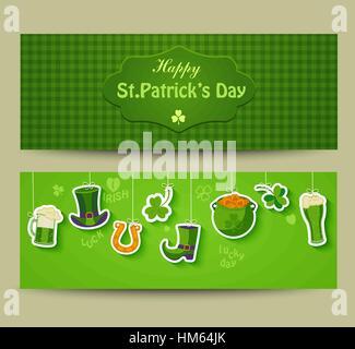 Plakat, Banner oder Hintergrund für Happy St Patricks Day. - Stockfoto