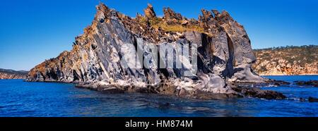 Ein Elgee Sandsteinformation an der entfernten Kimberley-Küste. - Stockfoto