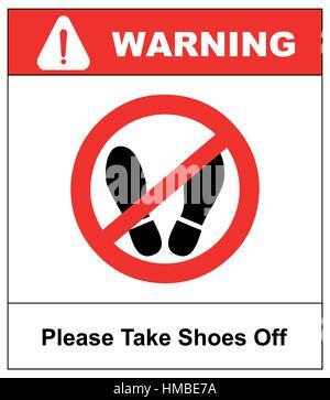 Bitte Schuhe Ausziehen bitte schuhe ausziehen treten sie nicht hier bitte zeichen vektor