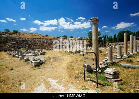 Aphrodisias Theater. Antiken Griechenland. Kleinasien. Turkei - Stockfoto