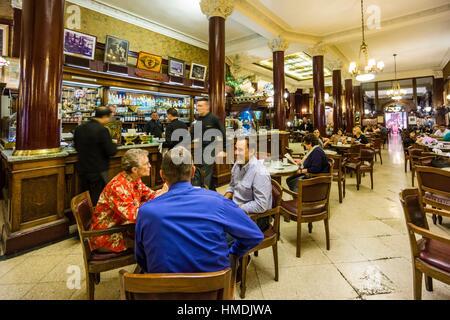 Café Tortoni, Ubicado En el 825 De La Avenida de Mayo, Republica Argentina, Buenos Aires, Cono Sur, Südamerika. - Stockfoto
