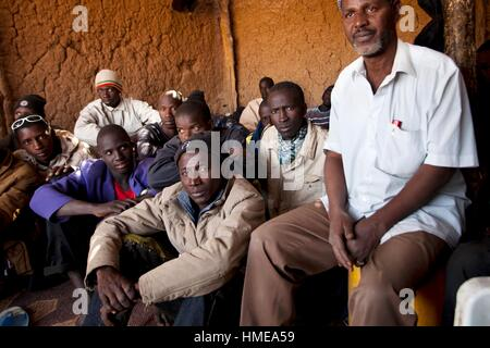 Niger, Agadez, Emigranten im Ghetto von Senegal - Stockfoto