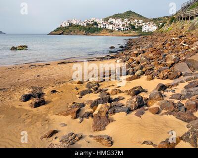 Cala Tirant. Menorca. Islas Baleares. Spanien. Europa. - Stockfoto