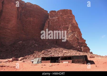 Szene der Wüste Wadi Rum, Jordanien - Stockfoto
