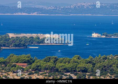 Stadt Sibenik, Adria, Kroatien - Stockfoto