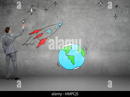 Fliegenden Rakete - Stockfoto