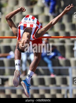 Lokalen Leichtathletik-Leichtathletik-Meeting in Parow, Cape Town, Südafrika - Stockfoto