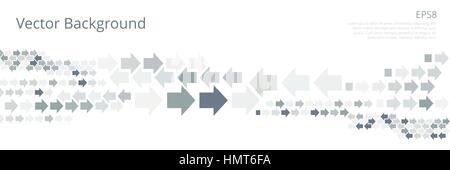 Hintergrund mit linken und rechten Pfeile in Grautönen. Abstrakte Technologie Banner der geometrischen Pfeilspitze - Stockfoto