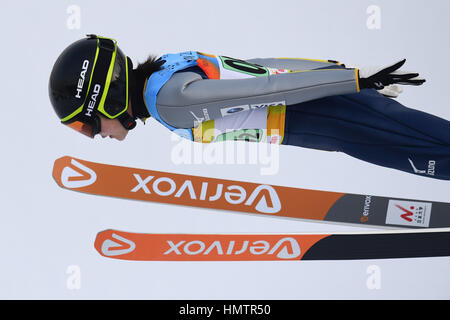 Almaty, Kasachstan. 5. Februar 2017. Haruka Iwasa (JPN) auf den 28. Winter-Universiade Almaty 2017 Frauen Nationalmannschaft - Stockfoto