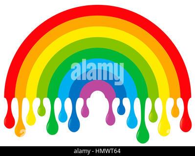 Tropfende Regenbogen - Stockfoto