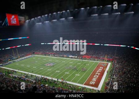 5. Februar 2017 Gesamtansicht des Feldes während der Super Bowl LI zwischen die New England Patriots und die Atlanta - Stockfoto