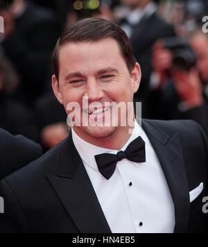 Channing Tatum kommt für die Premiere des Films, Foxcatcher, auf dem Cannes Film Festival am 19. Mai 2014, in Cannes, - Stockfoto