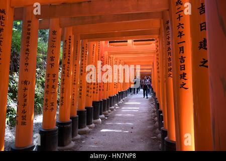 Fushimi Inari Schrein oder Fushimi Inari-Taisha, einem Shinto-Schrein in Kyoto, Japan, Asien. Japanische Denkmal, - Stockfoto