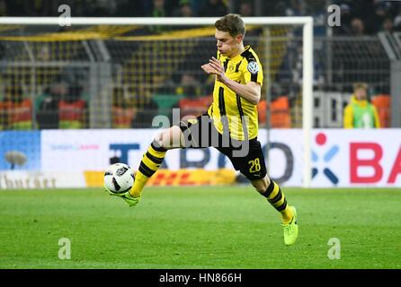 Signal-Iduna-Park Dortmund, Deutschland. 8. Februar 2017. DFB-Pokal-Runde DFB-Pokal 2016/17 der sechzehn, Borussia - Stockfoto