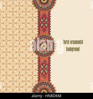 vektor geometrische und blume runde mandala orientalische muster vector illustration. Black Bedroom Furniture Sets. Home Design Ideas