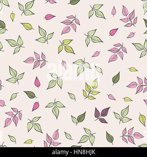 Blätter Muster. floralen nahtlose Hintergrund. Blatt ornamentale Textur. - Stockfoto