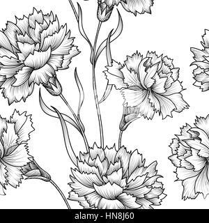 Florale nahtlose Muster. Blume Hintergrund. floralen nahtlose Textur mit Blumen. - Stockfoto