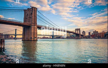Brooklynbridge, New York - Stockfoto