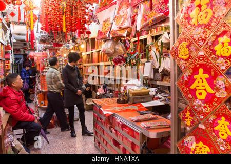 Traditionelle Räucherstäbchen shop in Hongkong - Stockfoto