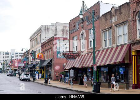Beale Street in der Innenstadt von Memphis, Tennessee, USA - Stockfoto