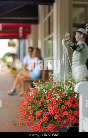 Main Street neben dem Gehöft Resort, heiße Quellen, Bath County, Virginia, USA. - Stockfoto