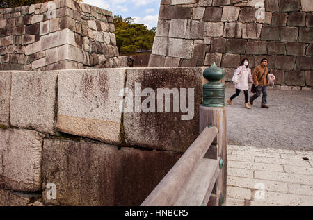 Nijo Burg, UNESCO-Weltkulturerbe, Kyoto, Japan. - Stockfoto