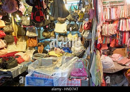 Markt in Li Yuen Street West, Hong Kong, China - Stockfoto