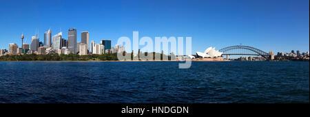 Sydney Opera House und Harbour Bridge, Sydney, Australien - Stockfoto