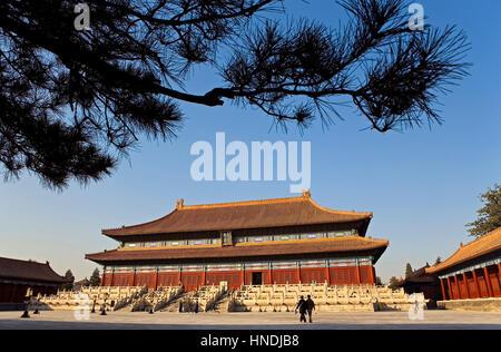 Palast von Kulturschaffenden, Verbotene Stadt, Peking, China - Stockfoto
