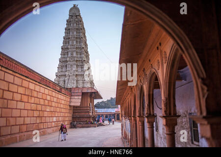 Rangaji (Ranganath Tempel), Vrindavan, Mathura, Uttar Pradesh, Indien - Stockfoto