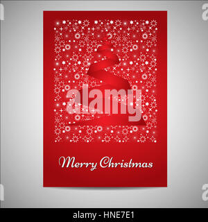 Schöne Weihnachtskarte/Poster set - Stockfoto