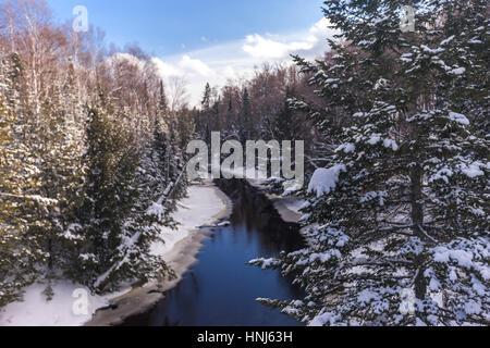 Arrowhead Provincial Park im Winter fotografiert. Der Park befindet sich nur Norden Huntsville in der Muskoka-Region - Stockfoto