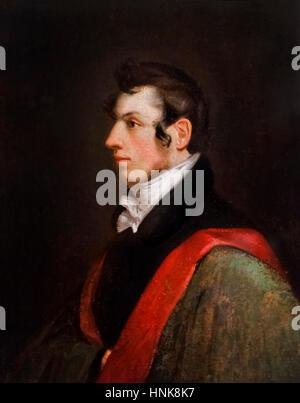 Samuel Morse (1791-1872). Selbstporträt des Künstlers und Erfinder des Telegraphen, Öl auf Vollpappen, 1812. - Stockfoto