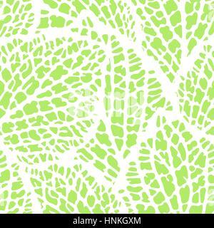 Nahtlose Muster mit dekorativen Blättern. Natürliche detaillierte Darstellung - Stockfoto