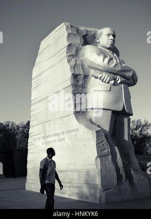 Statue von Reverend Martin Luther King, Jr. National Memorial, Washington D.C. USA. - Stockfoto