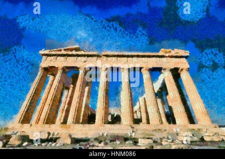Tempel des Parthenon in Athen, Griechenland-Akropolis