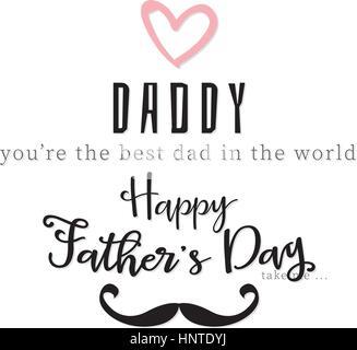 Glücklicher Vater Tag - Stockfoto