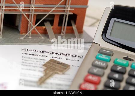 Symbolbild Baufinanzierung - symbolisch für Baufinanzierung - Stockfoto